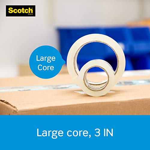 """Scotch Heavy Duty Shipping Packaging Tape, 1.88"""" x 54.6 Yards, 3"""" Core, Clear, Great for Packing, Shipping & Moving, 3 Rolls (3850-3) Photo #3"""