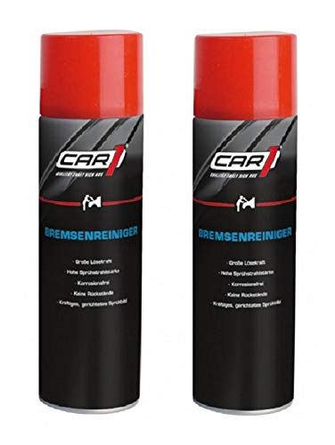 2 x 500ml CAR1 Bremsenreiniger - Bremsscheibenreiniger Spray - CO 3000