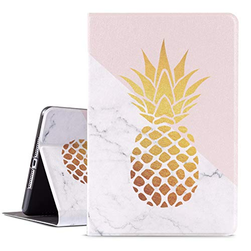 ipad Mini 4 Case, ipad Mini 5 Case, Vimorco Premium Leather ipad 7.9 inch Cover 2017/2019, Adjustable Angle Stand with Auto Sleep/Wake, Pineapple