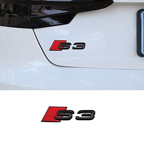 YYD Auto-Heck-Auto-Logo-Dekoration-Aufkleber, Autozubehör für A4L A6L A5 A3 usw,Schwarz,S3