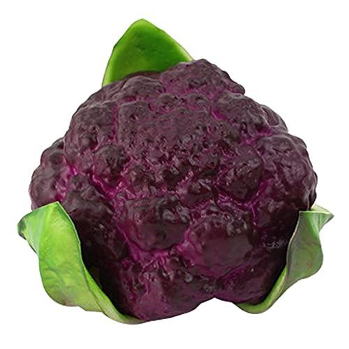 Künstliche Simulation,lebensecht,realistisch,12 x 8,9 cm,künstliches Gemüse,lebensecht,realistisch,Blumenkohl,künstliche Lebensmittel,Heimdekoration,Gemüse,lila grün