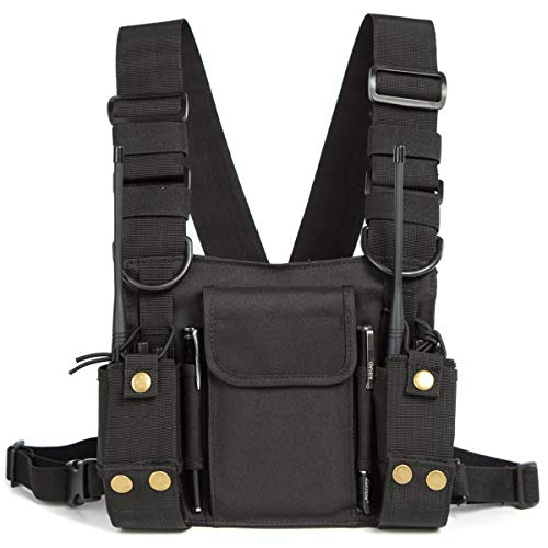 Best Buy! Radio Shoulder Holster Chest Harness Holder Vest Rig for Two Way Radio Chest