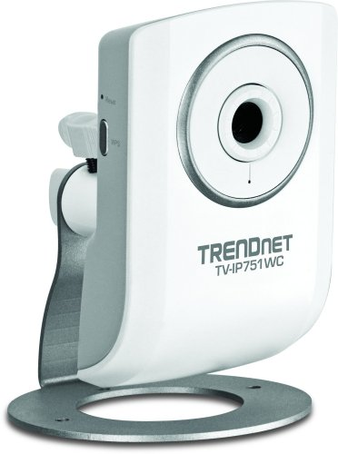 TRENDnet Wireless N Network Cloud Surveillance Camera with 1-Way Audio, TV-IP751WC (White)