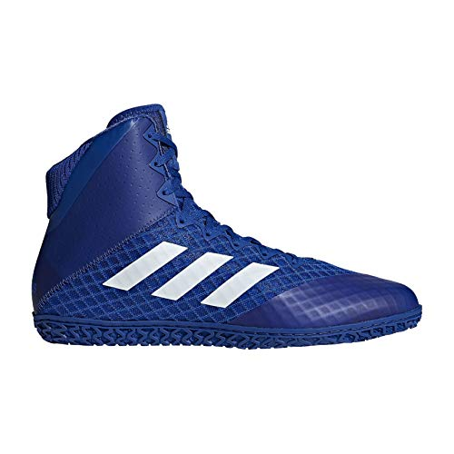 adidas Mat Wizard 4 Men's Wrestling Shoes, Royal/White, Size 12