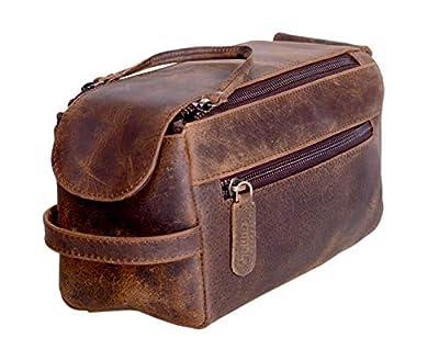KOMALC Genuine Buffalo Leather