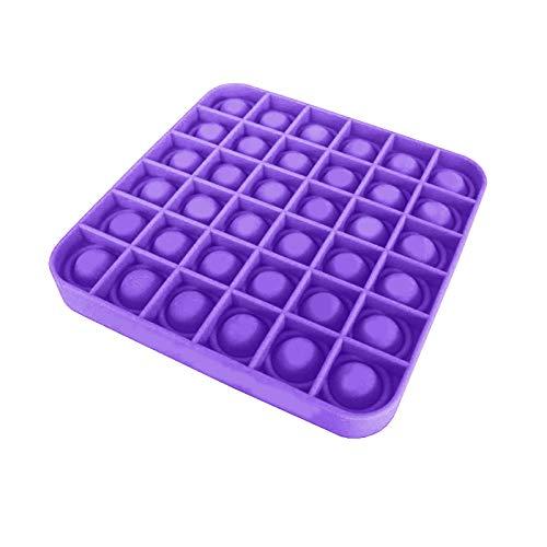 Push Pop Bubble Sensory Fidget Toy,Stress Relief Special Needs Silent Classroom for Kids Adults Angst Relief Finger Toys,Pop Spielzeug, Stressabbau Reliever (Purple)
