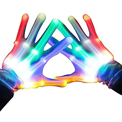 Our-day Cool Toys for 3-12 Year Old Boys Girls, Newest LED Light Finger Light Flashing Rave Gloves Party Favor for Kids Outdoor New Popular Fun Gifts for 3-12 Year Old Boys Girls ODUSST01