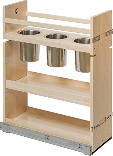 Century Components CASCAN85PF Kitchen Base Cabinet Pull-Out Canister Organizer - 8-7/8