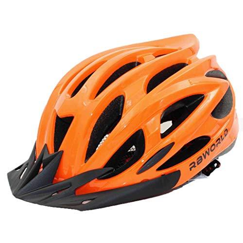 Casco Protector de Seguridad de Ciclismo Casco de Bicicleta con luz Trasera LED Casco de Bicicleta de montaña de Carretera con Visera de Sol Casco de Bicicleta de Red de Insectos