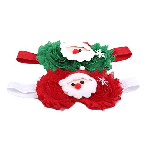 ZALING Noël Élastique Accessoires De Cheveux Bébé Bandeaux Bébé Bandeaux Enfants Santa Claus Elk Tree Hairband