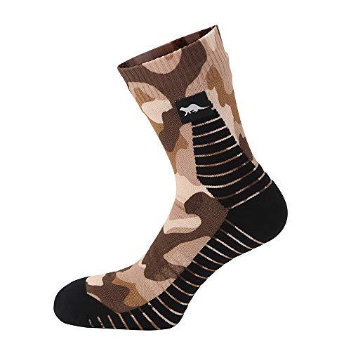OTTER Wasserdichte atmungsaktive Socken für Damen & Herren, 100prozent wasserdicht, winddicht, alle Outdoor-Aktivitäten in allen Klimazonen, Größe L, Camouflage.