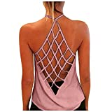 Jaqqra Tank Tops for Women Casual Sexy Printed Tank Top Backless Sleeveless Tshirt Summer Tops Loose Blouse Tunic Tee