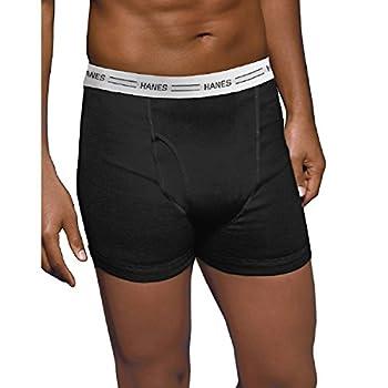 Hanes Men s ComfortSoft Tagless Boxer Briefs with Flex Waistband - XXX-Large - Black/Grey  4-Pack