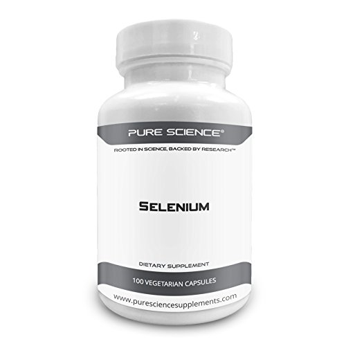 Pure Science Selenium 300mcg with 5mg BioPerine (Natural Bioavailability Enhancer for Better Absorption) – 100 Vegetarian Capsules