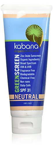 Green Screen Organic Sunscreen Zinc Oxide SPF 31 Tinted Neutral - Soy-Free - Vegan - Gluten-Free - 8oz/230g As 2x4oz
