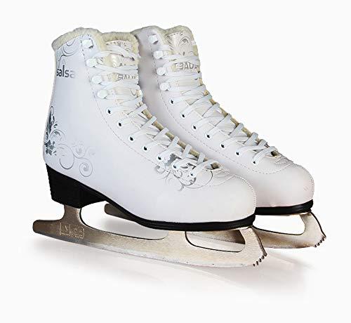 ステンレススチールナイフアイススケート アダルトフィギュアスケートスケート靴 子供スケート スピードスケート メンズ レディースローラースケート大人用ウェアラブル 耐摩耗性 トレーニングシューズbdx01 (265)