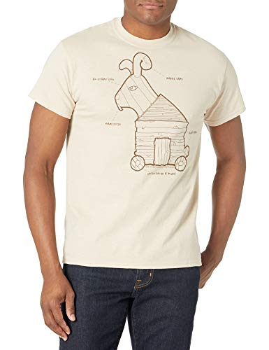 Liquid Blue Men's Monty Python-Trojan Rabbit T-Shirt, Sand, XX-Large