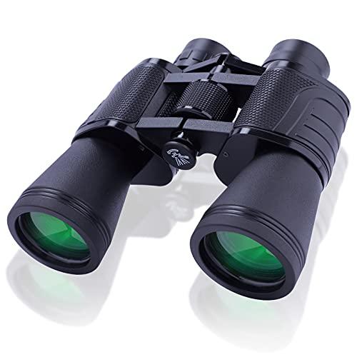 NOCOEX 10x50 Prismáticos Profesionales - BAK4 FMC HD Prismáticos para Adultos - Vida prismáticos impermeables para hacer turismo, deporte, turismo, conciertos, observación de la fauna
