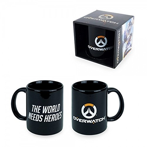 Overwatch - Keramik Tasse - The World Needs Heroes - Logo - Geschenkbox