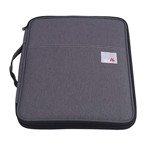 N/A Business Briefcase Multifunctional Portfolio Computer Bag Temperament Unisex Lightweight Durable Convenient Carry Learning Accessoires de Bureau (Gris foncé)