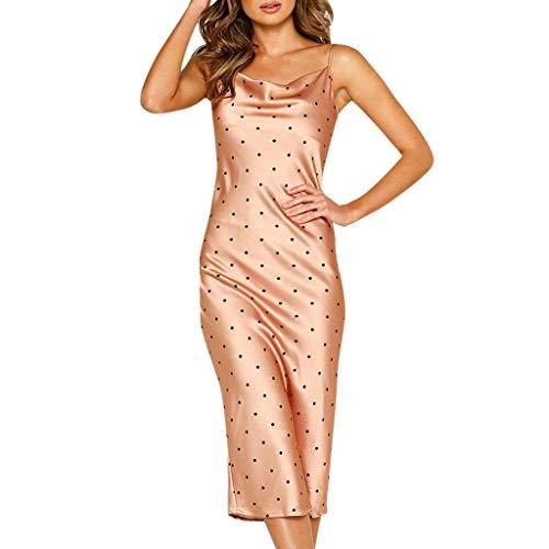 Elegante Kleider Damen Kleid Cocktailkleider Ronamick Frauen Sexy ärmellosen kalte Schulter rückenfreies Kleid Nachthemd Partykleid(, Orange)