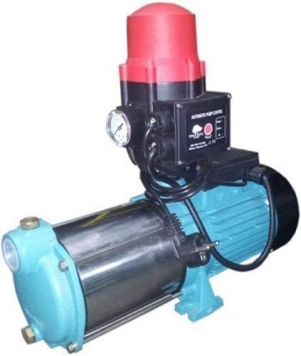 Gartenpumpe MHI 2200 2200Watt Fördermenge: 160 l/min 9600 l/h robuste und rostfreie Edelstahlwelle integrierter thermischer Motorschutzschalter + Pumpcontrol mit Trockenlaufschutz + Rückschlagventil.