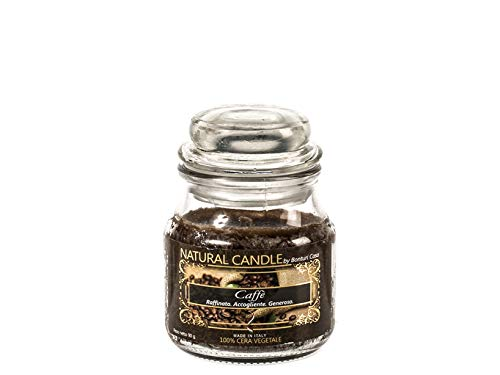 Nature Candle 166805 Candela Profumata Caffé, 100% Cera Vegetale, 90 g, Assortito