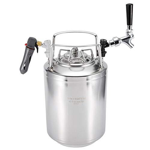 Roestvrij stalen Cola-biervat met niet verstelbare kraankit voor het Home Brew-systeem MEERWEG verpakking 10l