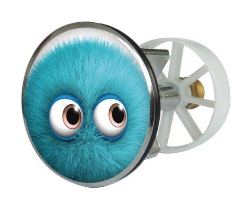 Waschbeckenstöpsel Design Monster Hugo , Abfluss-Stopfen aus Metall , Excenterstopfen , Abflussstöpsel , 38 – 40 mm , Stöpsel