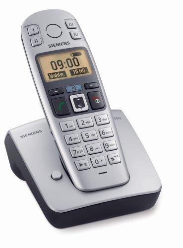 Gigaset E360 Schnurlostelefon (beleuchtetes Grafikdisplay, große Tasten, große Schrift, Freisprechfunktion) titanium