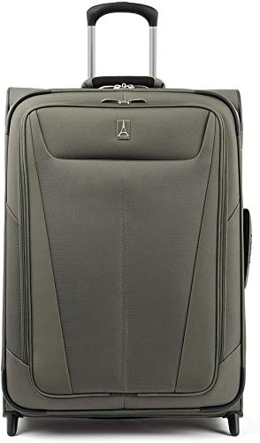Travelpro Maxlite 5-Softside Lightweight Expandable Upright Luggage, Slate Green, Checked-Medium 26-Inch