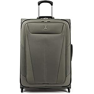 Travelpro Maxlite 5 Softside Lightweight Expandable Upright Luggage, Slate Green, Checked-Medium 26-Inc,two wheel