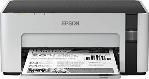 Epson EcoTank ET-M1120 nachfüllbarer Schwarzweißdrucker (Singlefunction, DIN A4, Wi-Fi, USB 2.0) großer Tintenbehälter, hohe Reichweite, niedrige Seitenkosten