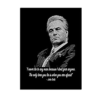 JIHONG Motivational Posters Wall Art for Home Decor Painting The Picture Print on Canvas John Gotti  12x16inch,Unframed