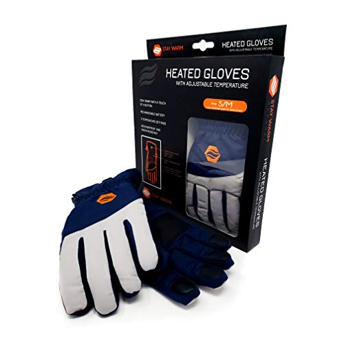Stay Warm Apparel Rechargeable Heated Gloves – 3 Level Heated Winter Gloves for Men & Women | Machine Washable Thermal Gloves | Winter Gear for Skiing, Snowboarding, Fishing, Cycling, & Commuting