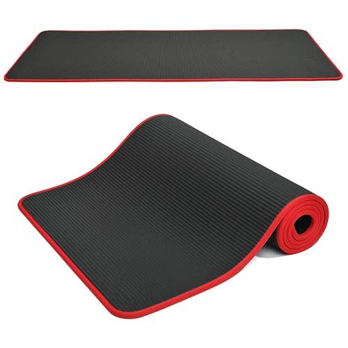 10 mm de espesor de la estera de yoga negro de la estera de la gimnasia de la alta calidad del gimnasio Pilates Fitness Reformador de goma natural