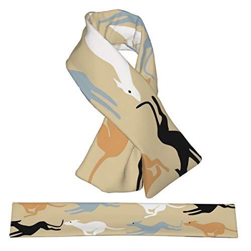 Bufanda cruzada galgos del desierto bufandas de franela para el cuello, doble cara, suave y ligera, para mujeres, hombres y adolescentes