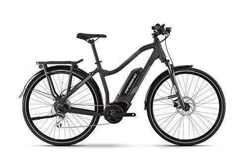 Haibike SDURO Trekking 1.0 Damen E-Bike 400Wh E-Trekkingrad Elektrofahrrad schwarz/Titan/grau matt 2019 RH 56 cm / 28 Zoll
