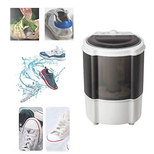 Suge Mini Machine à laver, logement visuel transparent for un accès facile à la situation, de petite taille, grande capacité lavable 3-5 paires de chaussures (Color : Black)