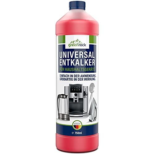 greenrock Universal Entkalker (1 Flasche je 750ml) – Kalkentferner für alle Oberflächen und Geräte – Kalklöser extra stark