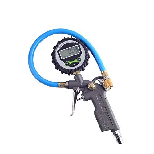 KingBra Medidor digital de presión de inflador de neumáticos 220 PSI con manguera de goma para coche, motocicleta, camión