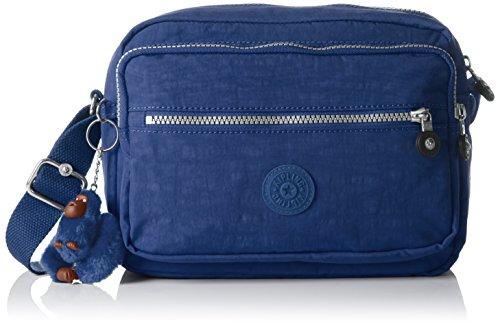 Kipling Deena, Bolso Bandolera Para Mujer, Azul (Jazzy Blue), 12.5x25.5x19 cm (B x H x T)