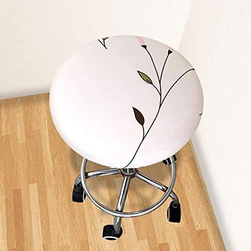 XCVB Ronde stoel stoelhoes Thuis stoel Hoes ronde stoel Barkruk Bloemen bedrukte hoes Barkruk hoes Elastisch, bruin