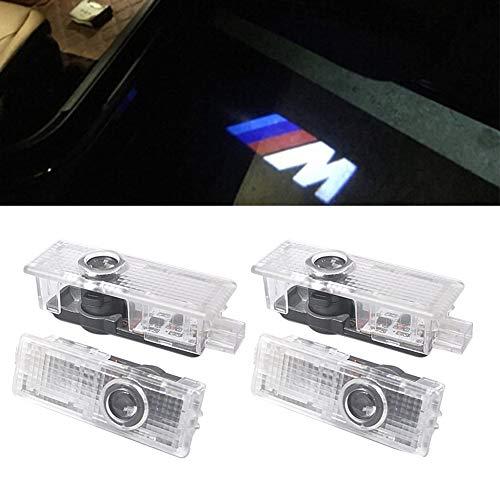 Autotür logo Licht, 4 Pack NOTEN LED Shadow Einstiegsbeleuchtung Shadow Geisterlicht Courtesy Willkommenslogo E90 E91 E92 E93 M3 E60 E61 F10 F07 M5(4 PCS)