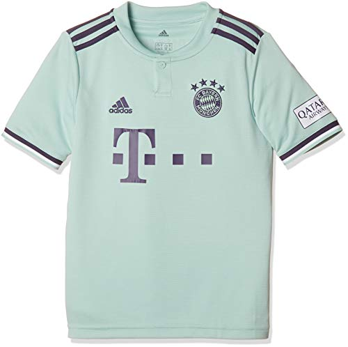 adidas Kinder 18/19 FC Bayern Away Trikot, ash Green/Trace Purple/White, 152