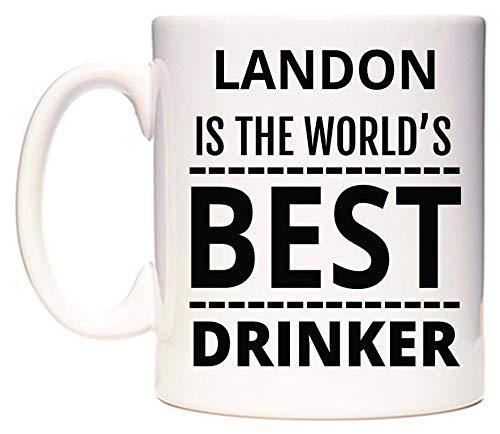 WeDoMugs Landon is The World's Best Drinker Becher