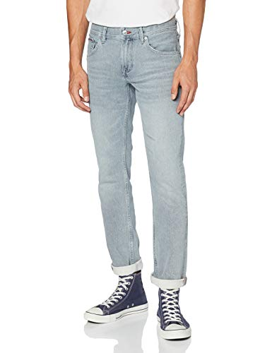 Tommy Hilfiger Herren Straight Denton Str Bison Grey Hose, Denim, W34/L32