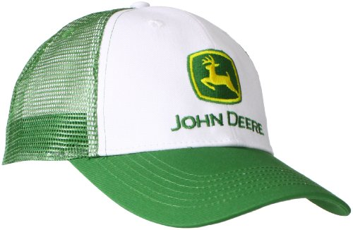 JOHN DEERE Herren Classic Green & White Cap Kappe, Wei, Einheitsgröße