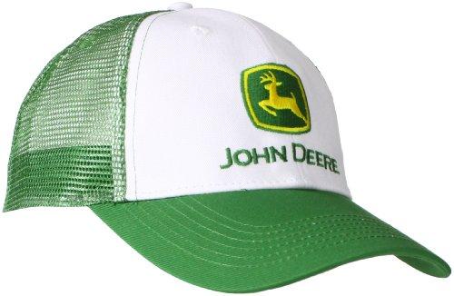 John Deere NCAA Herren-Baseballkappe mit Markenlogo und Netzrücken - Weiß - Einheitsgröße