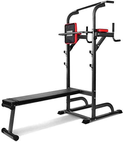 lunch box Stand Pull Up Station Mit Freistehender Pull-Up Bar, Fitness Station, Höhenverstellbarer Pull Up Bar Station Tower Mit Sit Up Bank, Krafttraining Zu Hause